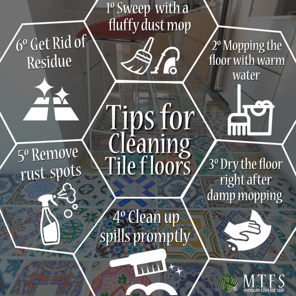 How to clean your tiles mexican tiles san diego how to clean your tiles dailygadgetfo Choice Image