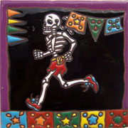 Set of 10 Day of the dead tile hrd 1