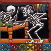 Set of 10 Day of the dead tile hrd 3