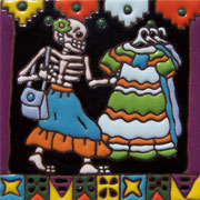 Set of 10 Day of the dead tile hrd 4