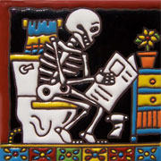 Set of 10 Day of the dead tile hrd 9