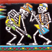 Set of 10 Day of the dead tile hrd 10