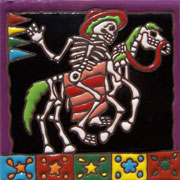 Set of 10 Day of the dead tile hrd 15