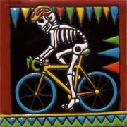 Set of 10 Day of the dead tile hrd 19