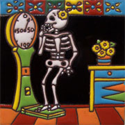 Set of 10 Day of the dead tile hrd 21