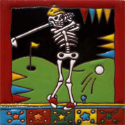 Set of 10 Day of the dead tile hrd 23