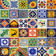 Mexican Ceramic Tile Talavera Set of 40 size 6 x 6