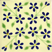Talavera tile flowers tf-1