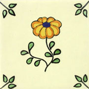 Talavera tile flowers tf-4