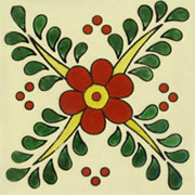 Talavera tile flowers tf-6