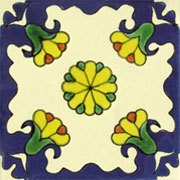 Talavera tile flowers tf-7