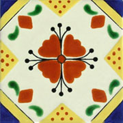 Talavera tile flowers tf-12