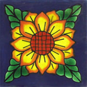 Talavera tile flowers tf-13