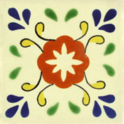 Talavera tile flowers tf-16