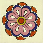 Talavera tile flowers tf-17