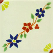 Talavera tile flowers tf-25