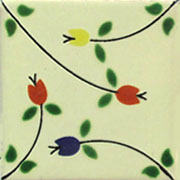 Talavera tile flowers tf-26