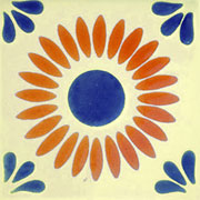 Talavera tile flowers tf-33