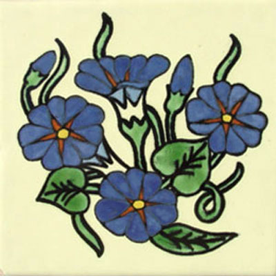 Talavera tile flowers tf-2