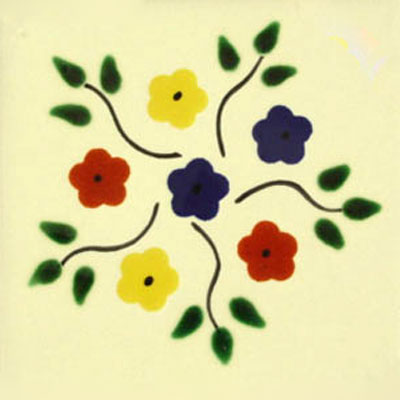 Talavera tile flowers tf-18