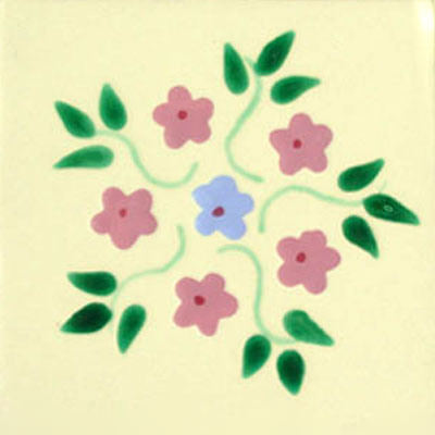 Talavera tile flowers tf-19