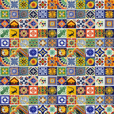 Set 100 Mexican Talavera Tiles 4x4