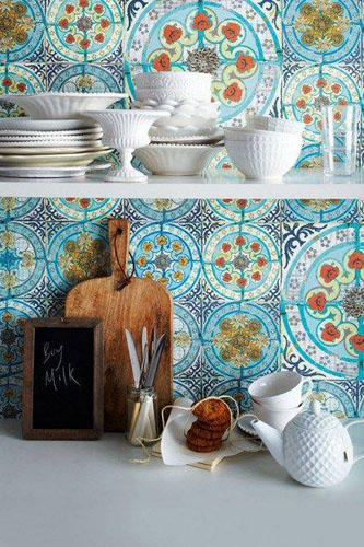 Mexican Malibu Tiles Kitchen