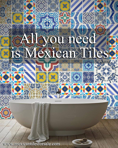 Mexican Malibu Tiles Bathroom
